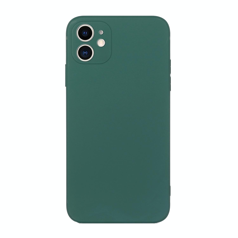 아이폰12 미니 솔리드 컬러 TPU 핸드폰 케이스 (다크 나이트 그린)