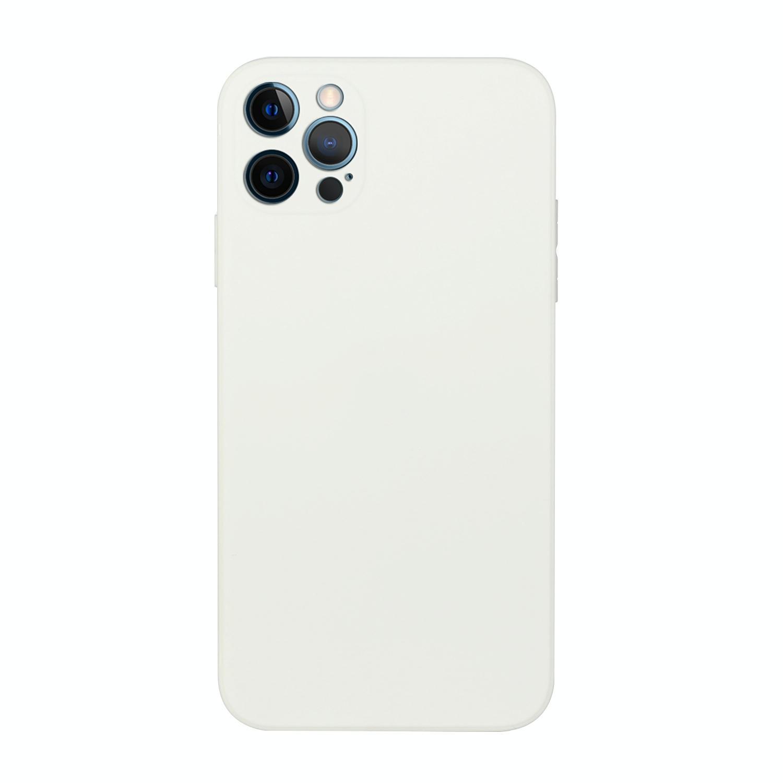 아이폰12 프로 심플 엣지 솔리드 TPU 케이스 (화이트)
