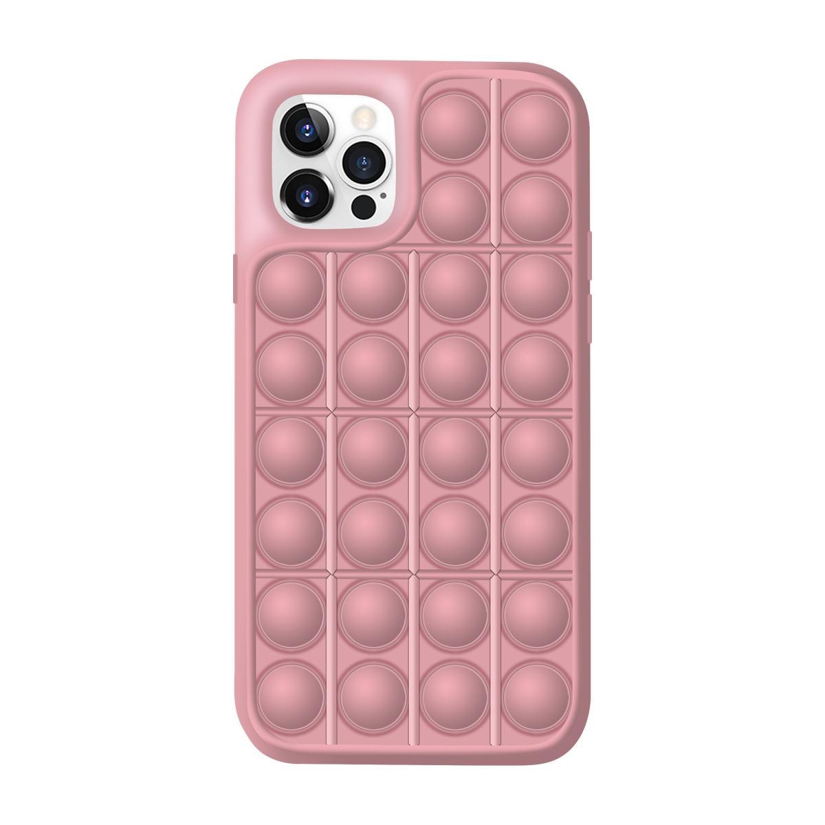 아이폰12 미니 레고 뽁뽁이 디자인 특이한 핸드폰 케이스 (핑크)