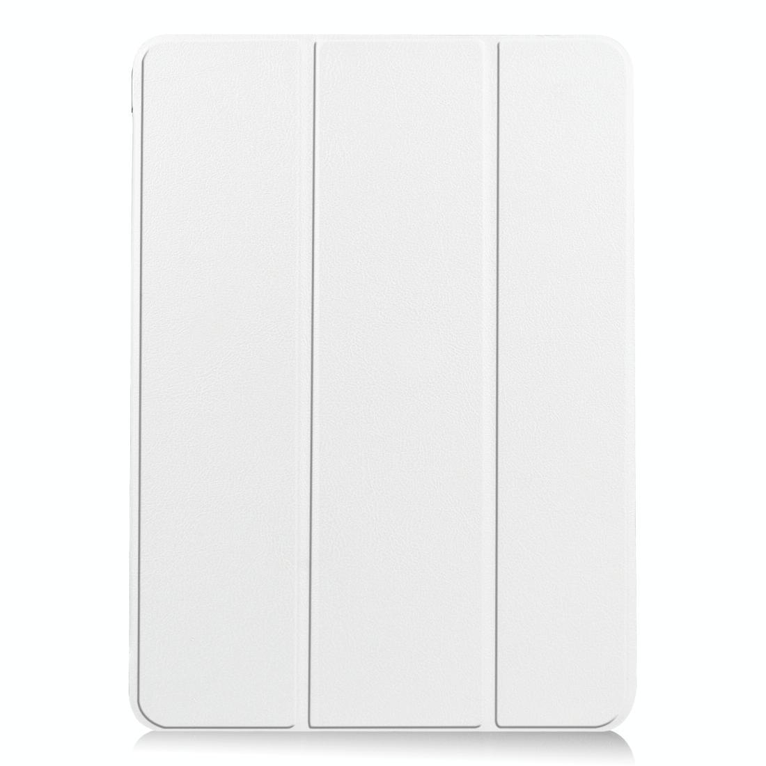 아이패드 에어4 쿠스터 가죽 패턴 접이식 플립 케이스 (화이트)