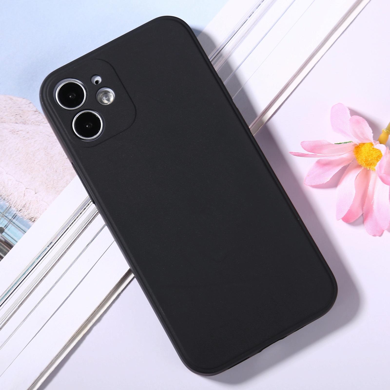 아이폰12 미니 매직 큐브 실리콘 핸드폰 케이스 (블랙)