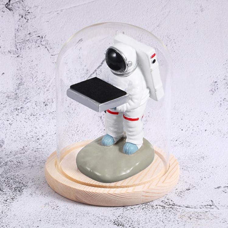 시계 거치대 장식품 시계 보관함 디스플레이 스탠드 작은 우주 비행사+목재 색상 커버