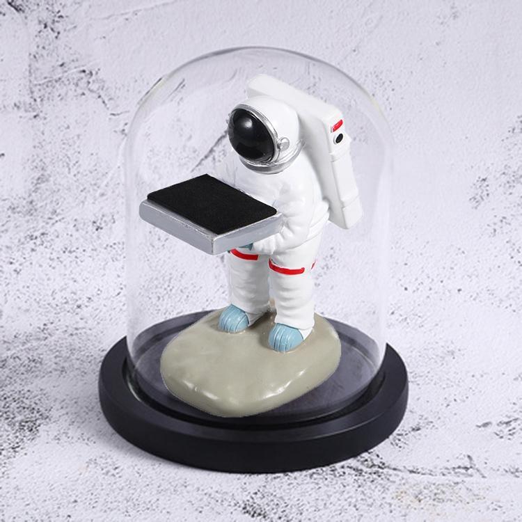 시계 거치대 장식품 시계 보관함 디스플레이 스탠드 작은 우주 비행사+검정 덮개