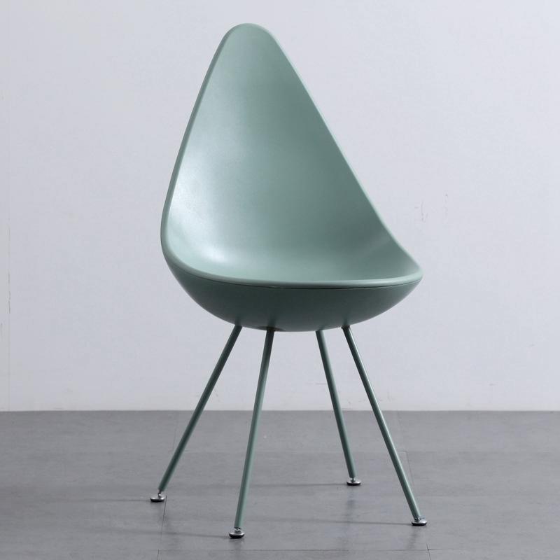 북유럽 미니멀 워터 드롭 등받이 디자인 의자 (그린)