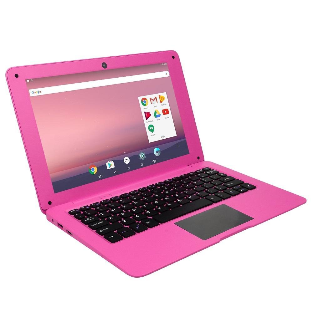 1011-A64 F1 노트북 10.1인치 2GB + 16GB, Android 7.1 OS, Allwinner A64 쿼드코어 1.3GHz CPU SD 카드 및 블루투스 및 WiFi 및 미니 HDMI 지원, US 플러그 (핑크)